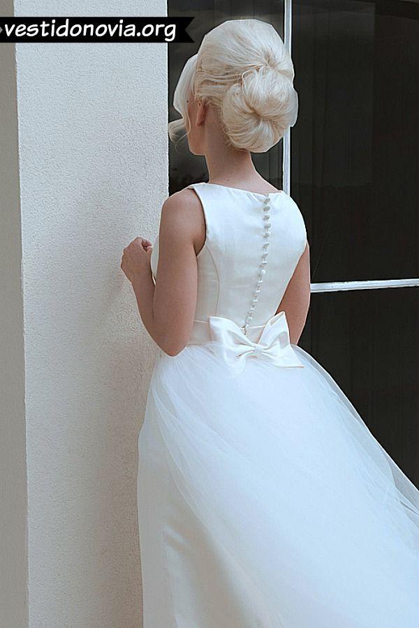 Vestido de Novia tubo de satín