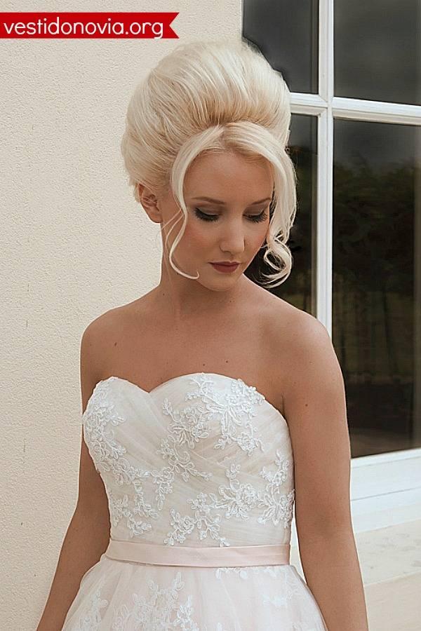 Vestido de novia corto strapless